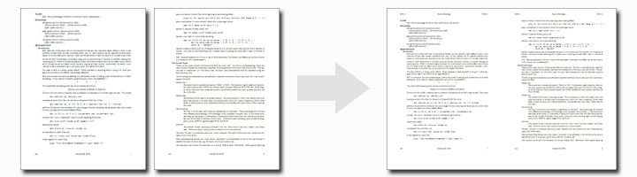 Merge every two pages into one page in a single PDF