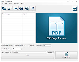 Small Screenshot of PDF Page Merger